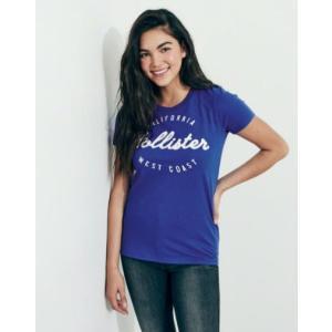 ホリスター Hollister レディース Tシャツ  Logo Graphic Tee ブルー fromla