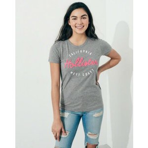 ホリスター Hollister レディース Tシャツ  Logo Graphic Tee グレイ fromla