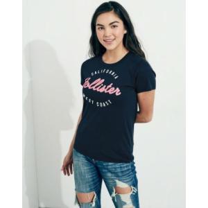 ホリスター Hollister レディース Tシャツ  Logo Graphic Tee ネイビー fromla