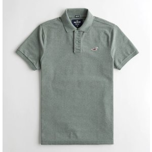 Hollister ホリスター ★6743 Stretch Icon Polo ヘザーグリーン|fromla