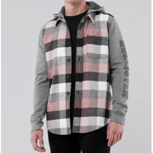 Hollister ホリスター メンズ  長袖シャツ  ★6741 Flannel Shirt グレイ|fromla