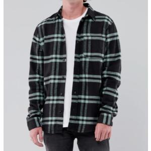 Hollister ホリスター メンズ  長袖シャツ  ★6738 Flannel Shirt ネイビーパターン|fromla