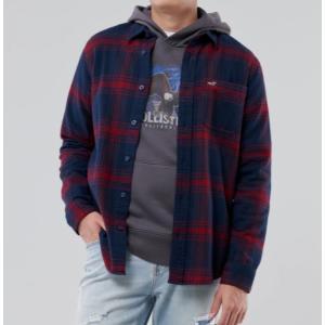 Hollister ホリスター メンズ  長袖シャツ  ★6739 Flannel Shirt ネイビーパターン|fromla