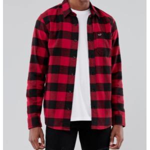 Hollister ホリスター メンズ  長袖シャツ  ★6740 Flannel Shirt レッドパターン|fromla