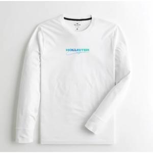 ホリスター Hollister メンズ  ロングTシャツ ★6727,6728 Colorblock Logo Graphic Tee ホワイト  USA直輸入  アメカジ アメリカン Tシャツ|fromla
