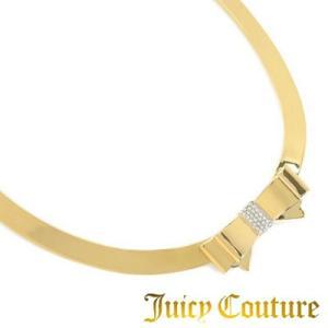 ジューシークチュール レディースネックレス BOW COLLAR NECKLACE(Gold) ボウ カラー ネックレス(ゴールド) リボン レディース|fromla