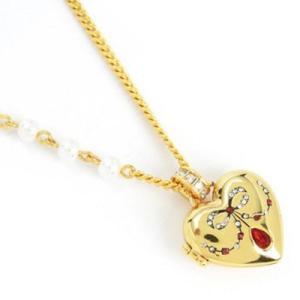 ジューシークチュール レディース ハートネックレス HEART LOCKET ICONIC NECKLACE ハート ロケット ネックレス(ゴールド)|fromla