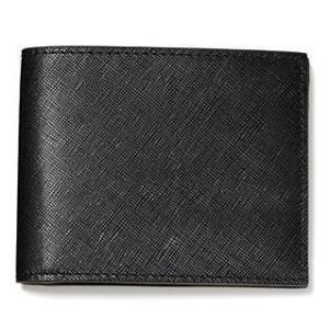 ジャックスペード ウォレット レザー 財布 JACK SPADE Crosshatch Leather Bi-fold Wallet (ブラック)|fromla