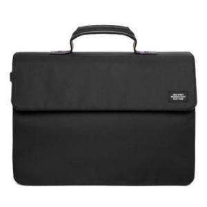 ★ジャックスペード メンズ ブリーフケース JACK SPADE Drill Nylon Folded Briefcase (ブラック)|fromla