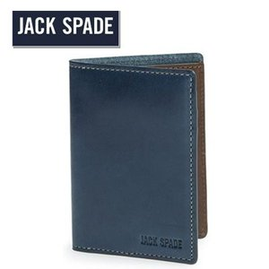 ジャックスペード Jack Spade 二つ折り財布 メンズ Mitchell Vertical Flap Leather Wallet ミッチェル バーティカル フラップ レザー 財布(ネイビー)|fromla