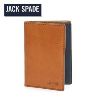 ジャックスペード Jack Spade 二つ折り財布 メンズ Mitchell Vertical Flap Leather Wallet ミッチェル バーティカル フラップ レザー 財布(サドル)|fromla