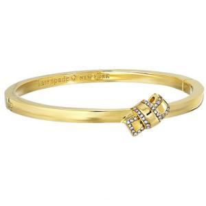 ケイトスペード ブレスレット Kate Spade wbrue543 all tied up pave knot bangle (clear/gold) リボン パヴェ バングル ブレスレット (ゴールド)|fromla