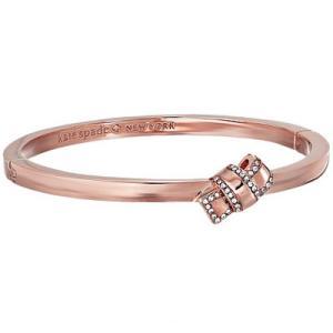 ケイトスペード ブレスレット Kate Spade wbrue543 all tied up pave knot bangle (clear/rose gold) リボン パヴェ バングル ブレスレット (ローズゴールド)|fromla
