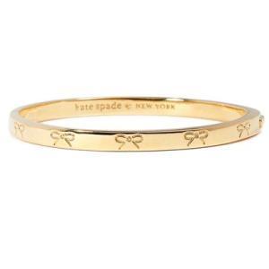 ケイトスペード ブレスレット Kate Spade  heavy metals engraved bow bangle (GOLD) ボウ リボン バングル (ゴールド)|fromla