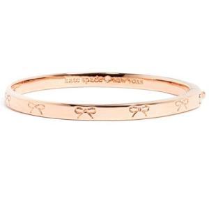 ケイトスペード ブレスレット Kate Spade  heavy metals engraved bow bangle (ROSE GOLD) ボウ リボン バングル (ローズゴールド)|fromla