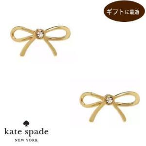 ケイトスペード Kate Spade レディースピアス dainty sparklers bow studs (Gold) リボン ピアス(ゴールド) ビジューピアス ブランド 正規品|fromla