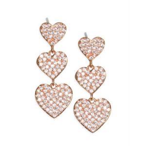 ケイトスペード ピアス Kate Spade  Pave Heart Triple-Drop Earrings (Clear/rose Gold) ハート トリプル ドロップ ピアス (ローズゴールド)|fromla