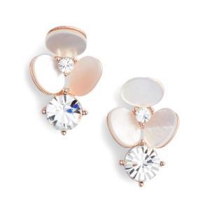 ケイトスペード ピアス Kate Spade  disco pansy earrings (Cream Multi) フラワー ピアス (クリームマルチ)|fromla