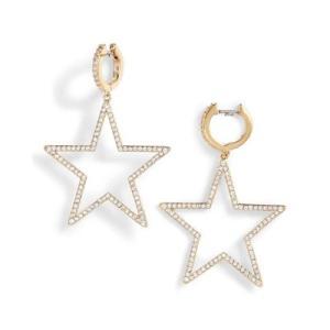 ケイトスペード ピアス Kate Spade wbruf233 seeing stars star hoops (GOLD) スター ドロップ ピアス (ゴールド)|fromla