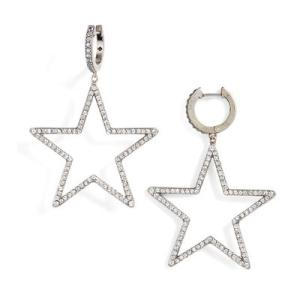 ケイトスペード ピアス Kate Spade wbruf233 seeing stars star hoops (SILVER) スター ドロップ ピアス (シルバー)|fromla