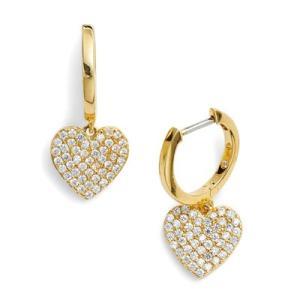 ケイトスペード ピアス Kate Spade  yours truly pave heart drop earrings (GOLD) ハート ドロップ ピアス (ゴールド)|fromla