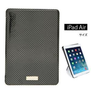 ケイトスペード Kate Spade iPadケース tiny gold dot iPad Air 2 folio caseタイニー ドット iPad Airケース(ブラック)|fromla