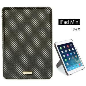 ケイトスペード Kate Spade iPadケース Tiny Gold Dot iPad Mini 2/3 Folio Hard Caseタイニー ドット iPad Miniケース(ブラック)|fromla