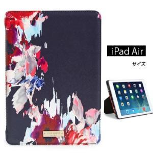 ケイトスペード Kate Spade  iPadケース hazy floral iPad Air hardcase folioフローラル iPad Airケース(レッドマルチ)|fromla