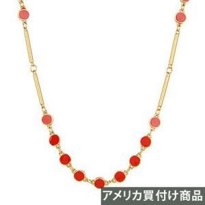 ケイトスペード Kate Spade ネックレス WBRU4933 DOTTED LINE Scatter Long Necklace 32 (レッド)|fromla