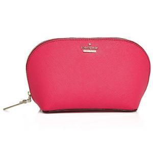 ケイトスペード 化粧ポーチ Kate Spade  Abalene Small Cosmetic Case(Pink Confetti)レザー コスメポーチ (ピンク)|fromla