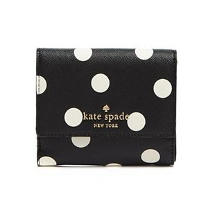 ケイトスペード Kate Spade  二つ折り財布 Cedar Street Dot Tavy Wallet シダーストリート ドット タビー 財布(ブラック)|fromla