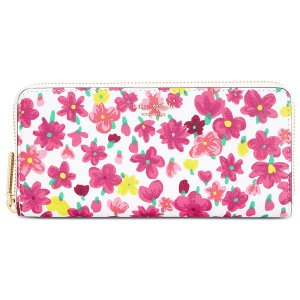 e855b6cb9cad ケイトスペード 長財布 PWRU7207 Kate Spade sylvia marker floral slim continental wallet  (OPTIC WHITE ...