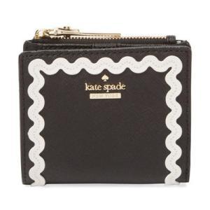 ケイトスペード 二つ折り財布 Kate Spade  Cameron Street Adalyn Ric Rac Wallet (Black/Cement) キャメロンストリート コンパクト 財布 (ブラック) fromla