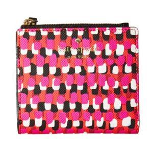 ケイトスペード 二つ折り財布 Kate Spade  Harding Street Pinata Adalyn Wallet (Multi) チェック コンパクト 財布 (マルチ) fromla