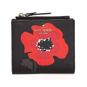 ケイトスペード 二つ折り財布 Kate Spade pwru5891 hyde lane poppy adalyn (Black Multi) ポピー コンパクト 財布 (ブラックマルチ) fromla