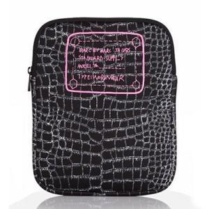 ★マークバイマークジェイコブス iPadケース  Trompe Croc iPad Case  クロック ネオプレン iPadケース (ブラックマルチ)|fromla