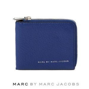 マークバイマークジェイコブス メンズ 財布 CLASSIC COLORBLOCKED HALF ZIP CARD HOLDERカラーブロック ハーフジップ カードホルダー(ブルー)|fromla