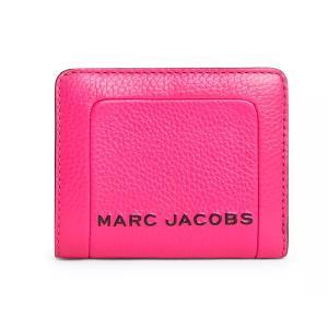 マークジェイコブス 二つ折り財布 M0015107 MARC JACOBS  The Textured Box Mini Compact Wallet (DIVA PINK) レザー ミニ コンパクト 財布 (ディーバピンク)|fromla