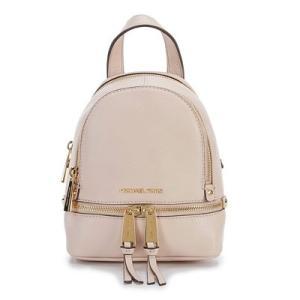 マイケルコース バックパック Michael Kors  Rhea Zip Mini Messenger Backpack (Soft Pink) ミニ メッセンジャー バックパック/リュック (ソフトピンク) fromla