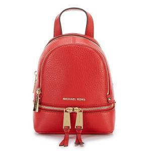 マイケルコース バックパック Michael Kors  Rhea Zip Mini Messenger Backpack (Bright Red) ミニ メッセンジャー バックパック/リュック (ブライトレッド) fromla