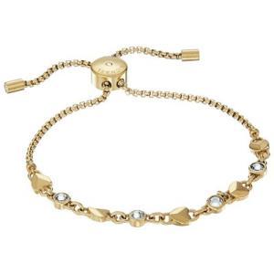 マイケルコース ブレスレット Michael Kors  Crystal & Heart Link Slider Bracelet クリスタル & ハート スライダー ブレスレット (ゴールド) fromla