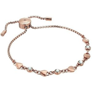 マイケルコース ブレスレット Michael Kors  Crystal & Heart Link Slider Bracelet クリスタル & ハート スライダー ブレスレット (ローズゴールド) fromla