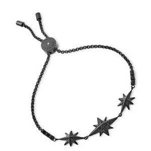 マイケルコース ブレスレット Michael Kors  Starburst Pave Slider Bracelet パヴェ スターバースト スライダー ブレスレット (ブラック) fromla
