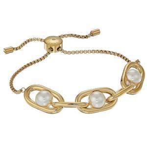 マイケルコース ブレスレット Michael Kors Gold-Tone Imitation Pearl Large Link Slider Bracelet イミテーション パール スライダー ブレスレット (ゴールド) fromla