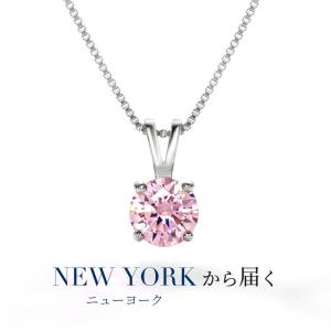 ネックレス レディース 一粒 ピンク / 誕生日プレゼント 女性 彼女 結婚記念日