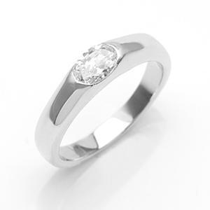 婚約指輪 リング オーバル czダイヤモンド 人工ダイヤモンド