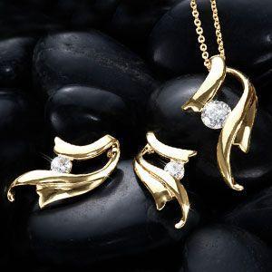 ジュエリーセット デザイナーズ ブランド ゴールド 流線形 人気