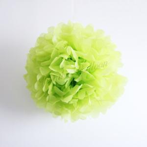 ペーパーポム フラワーポンポン 30cm ペーパー ポンポン 緑  単色 フラワーポム インテリア ...