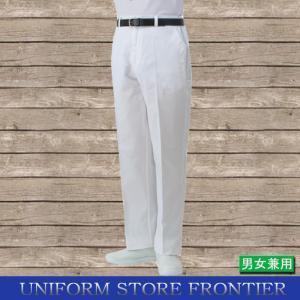 白ズボン コックズボン キッチン用ズボン ポリエステル65%・綿35% ウエストゴム|frontierstore