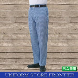 コックズボン ストライプ 縞ズボン 製菓用ズボン キッチン用ズボン|frontierstore
